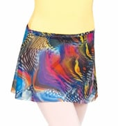 Child Printed Wrap Skirt
