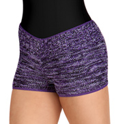 Adult Elasta-knit Multi Striped Hipster Short