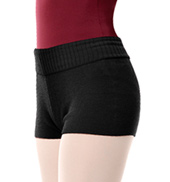 Adult Elasta-knit Ribbed Short with Fold down Waistband