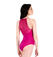 Adult Power Mesh Halter Leotard