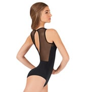 Tiler Peck Power Mesh Slit Back Tank Leotard