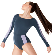 Adult Long Sleeve Two-Tone Leotard