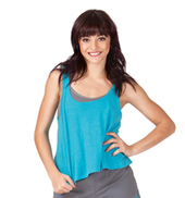 Adult Speckled Flowy Tank Crop Top