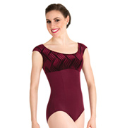 Adult Velvet Wide Strap Tank Leotard
