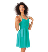 Adult Cross Bodice Halter Dress