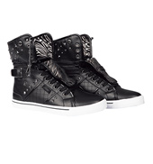 Adult Sugar Rush Black High Top Sneakers