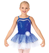 Child Bustled Sequin Camisole Tutu Dress