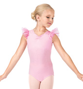 Child Pinch Front Flutter Sleeve Leotard