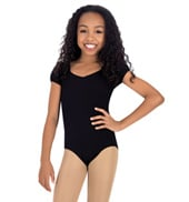 Child Cap Sleeve Twist Back Leotard