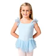 Child Double Flutter Sleeve Dress