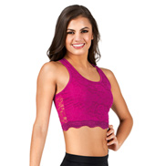 Adult Tank Lace Crop Top