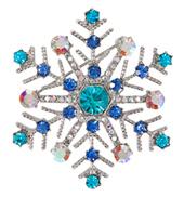 Rhinestone Snowflake Pin
