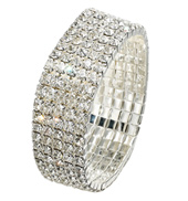 5-Row Crystal Stretch Bracelet