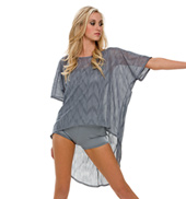 Adult Sleepless Nights Sheer Oversized Top with Romper