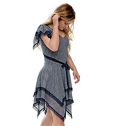 Adult/Girls Butterfly Flutter Sleeve Dress