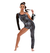 Adult/Girls Wild One Asymmetrical Unitard without Rhinestones