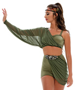 Adult Ship to Wreck Long Mesh Drape Costume Set with Rhinestones