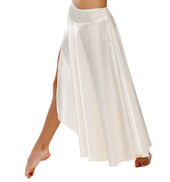 Adult The Words Long Satin Skirt without Rhinestones