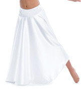 Adult The Words Long Satin Skirt with Rhinestones