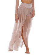 Adult/Girls Skinny Love Mesh Panel Skirt