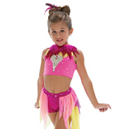 Adult/Girls Say Somethin Costume Set without Rhinestones & with Feathers