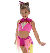 Adult/Girls Say Somethin Costume Set with Rhinestones/Feathers