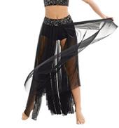Adult/Girls Fade Into You Damask Long Skirt