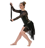 Adult Warrior Lace Unitard with Rhinestones