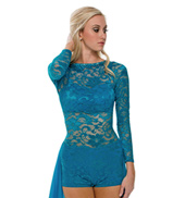 Adult Invincible Lace Unitard without Rhinestones