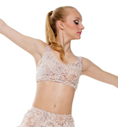 Adult/Girls This Womans Work Halter Top with Rhinestones