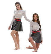 Adult/Girls Addicted to Love Romper Costume Set