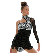 Adult/Girls True Love Asymmetrical Top with Rhinestones