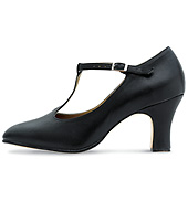 Chord T-Strap Character Shoe with 2 Heel