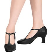 Chord T-Strap Character Shoe with 3 heel