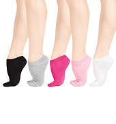 5-Pack Adult No Show Socks