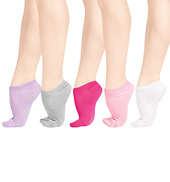 5-Pack Girls No Show Socks