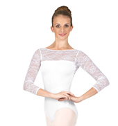Grace Kelly Long Sleeve Lace Leotard