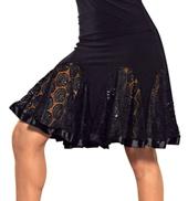 Ladies Short Lace Godet Skirt