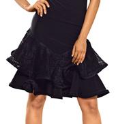 Ladies Lace Ruffled Skirt