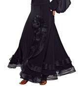 Ladies Long Crinoline Ruffled Skirt