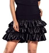 Ladies 3-Tier Charmeuse Ruffle Skirt