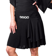 Adult Rhinestone Buckle Short Ballroom Skirt