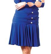 Adult Triple Button Short Ballroom Skirt