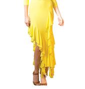 Adult Long Asymmetrical Ballroom Skirt