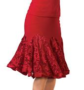 Adult Embroidered Short Godet Ballroom Skirt