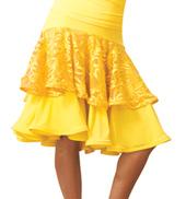 Adult Embroidered Peplum Ballroom Skirt