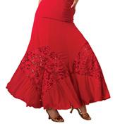 Adult Embroidered Diamond Insert Ballroom Skirt