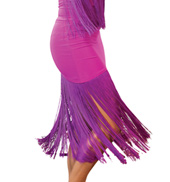 Adult Long Fringe Ballroom Skirt