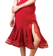 Adult Short Crinoline Flowered Ballroom Skirt