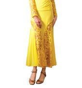 Adult Long Embroidered Insert Ballroom Skirt